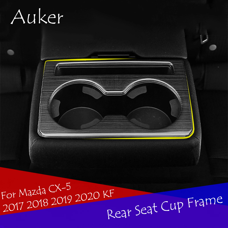 Car stainless steel Rear Air Vent Frame Cover trim for MAZDA CX-5 CX5 2017 2018