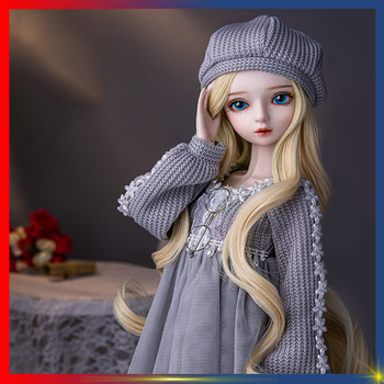 1/3 BJD Dolls 24 inch Fashion child Toys Silver hair Doll Handmade Makeup High Quality DIY DOLL With Full Outfits Clothes Gifts 35cm 1 6 bjd sd bbgirl doll toys high quality joints dolls diy girl dolls blyther dolls toys birthday gifts for child children