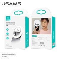 USB Charging LED Selfie Ring Light for Iphone Lighting Selfie Photo Camera Fill Light Mobile Phone Clip Lens Light Lamp