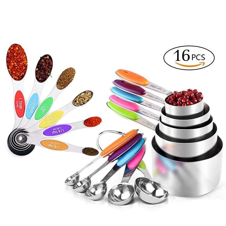 TSP /& cucharadas cucharas de medir Taza Set De 4 Piezas Kitchen Craft De Acero Inoxidable Ml