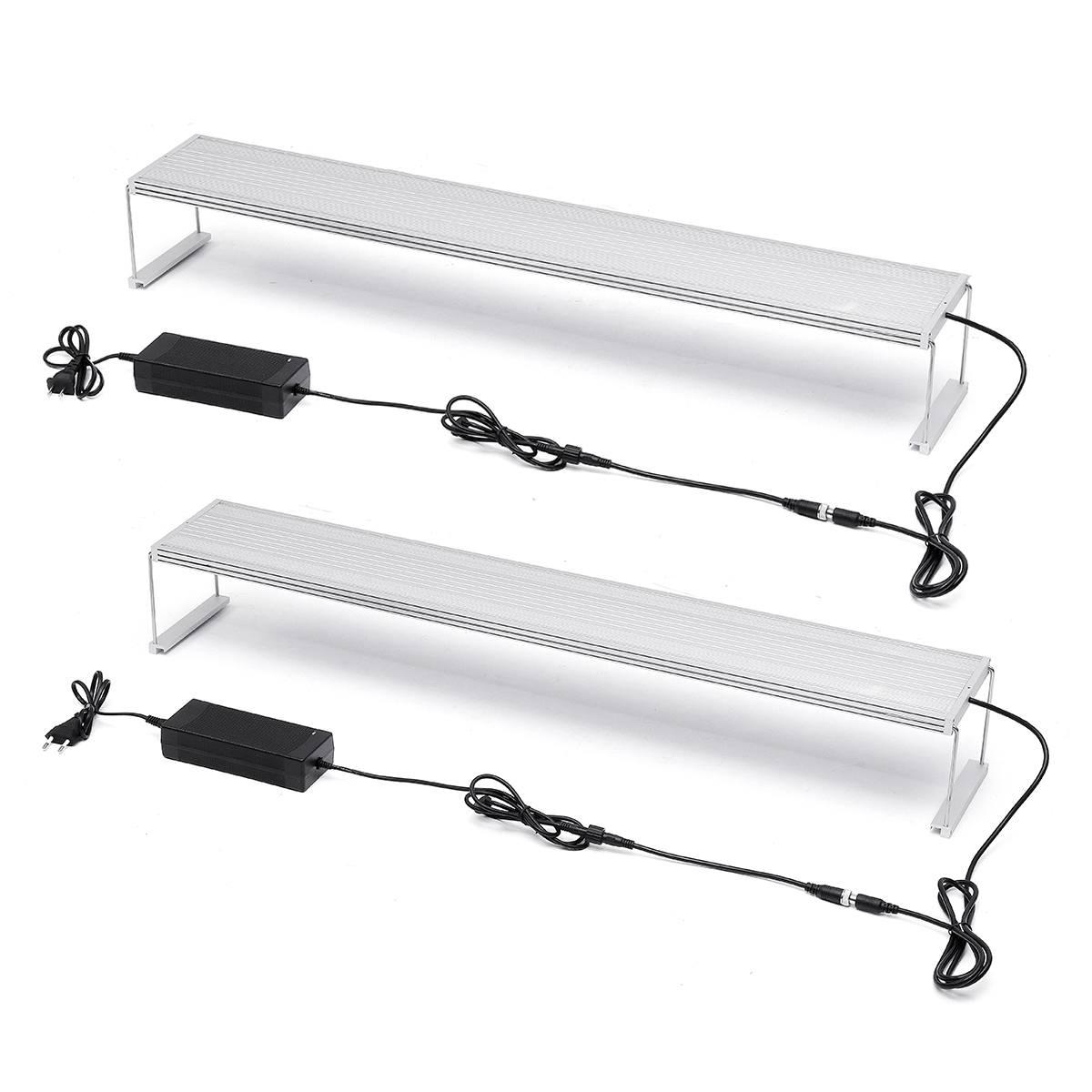WRGB90 Series Aquarium 75W 306 LED Lighting System LED Grow Light With Commander Controller For 90-110cm Fish Tank EU/US Plug
