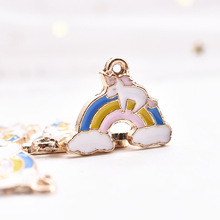10pcs/pack  Cloud Unicorn  Enamel Charms Alloy Pendant Metal Golden for Bracelet Earring DIY  Jewelry Accessories 5pcs alloy enamel heels hat coat charms with artificial pearl gold tone charm for women earring bracelet jewelry diy accessory