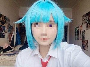Image 5 - Ensemble Stars Shino Hajime Cosplay Wigs High temperature Fiber Synthetic Hair Blue Short Hair + Free Wig Cap