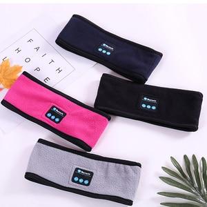 Image 4 - Wireless Bluetooth Headphone Sleep Yoga Headband Hat Soft Warm Sports Smart Cap Smart Speaker Stereo Scarf Headset with Mic