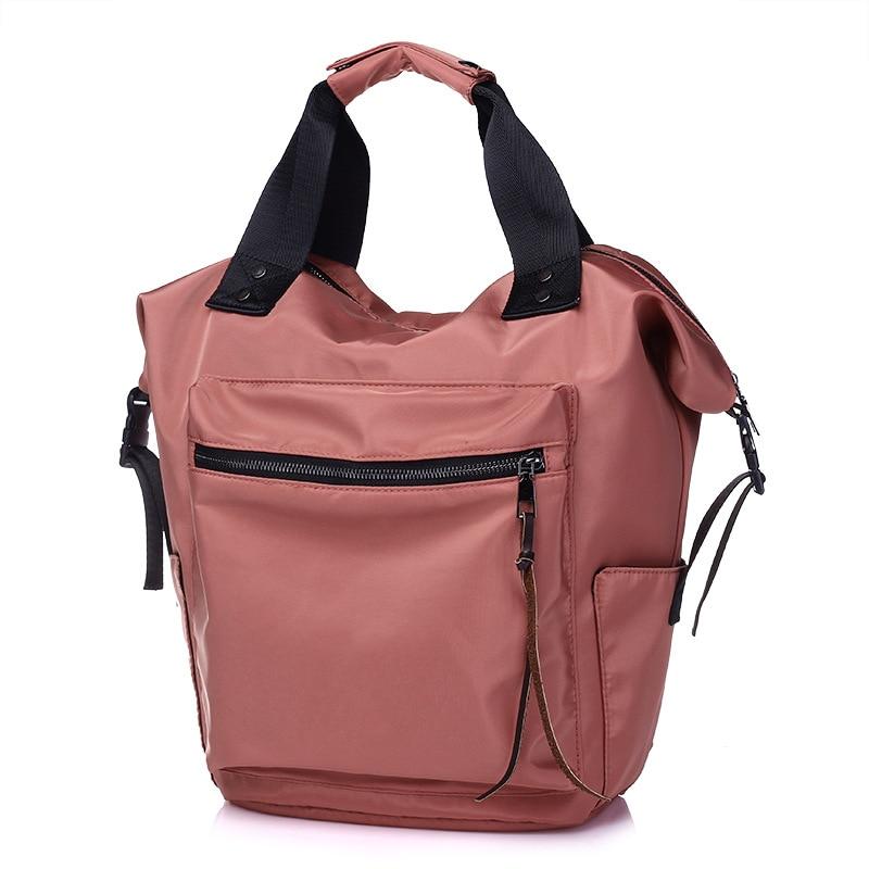 H06abd3391e3744faa36364cbb27f3ecdn Casual Nylon Waterproof Backpack Women High Capacity Travel Book Bags for Teenage Girls Students Pink Satchel Mochila Bolsa 2019