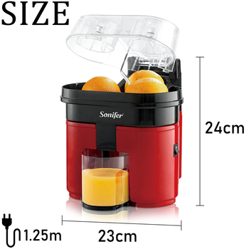 Fast Double Juicer 90W Electric Lemon Orange Fresh Juicer With Anti-drip Valve Citrus Fruits Squeezer Household 220V Sonifer 5