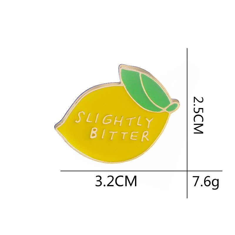 Songda Korea Lucu Sedikit Pahit Lemon Enamel Tanaman Buah Lencana Bros Kerah Pin Jean Denim Kemeja Tas Kartun Aksesoris