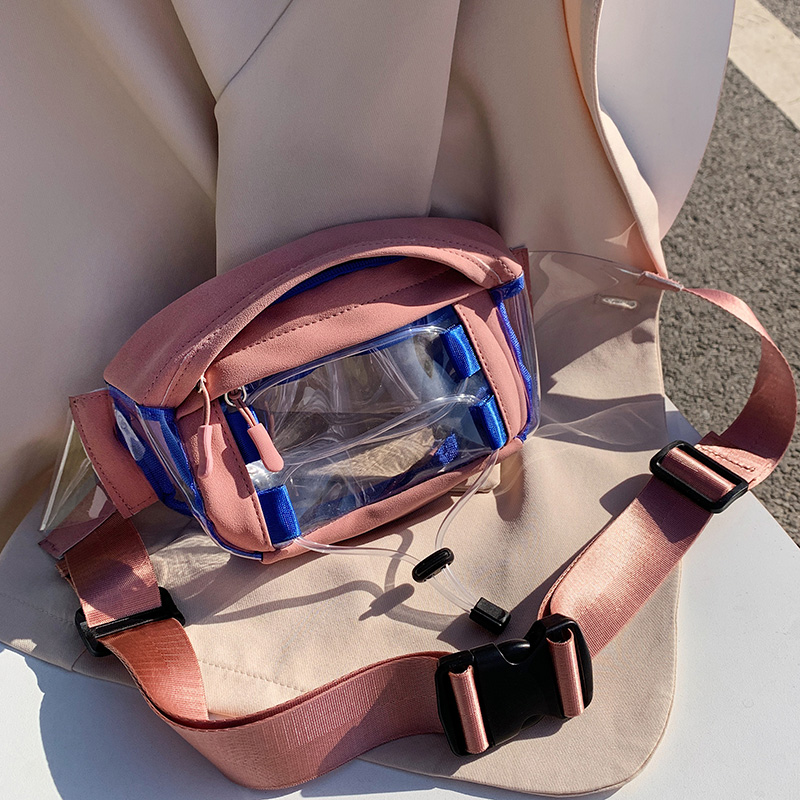 PVC Waterproof Fanny Packs For Women 2020 Summer Field Travel Waist Packs Lady Summer Transparent Chest Bag Female Belt Bags