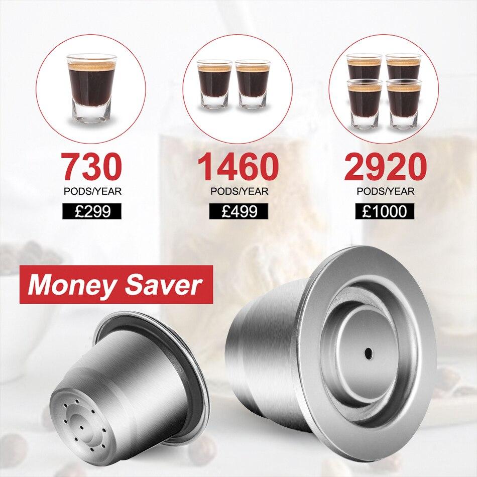 Капсулы для кофе ICafilas SVIP из нержавеющей стали для Nespresso многоразовые Многоразовые фильтрующие подставки из нержавеющей стали Crema Espress