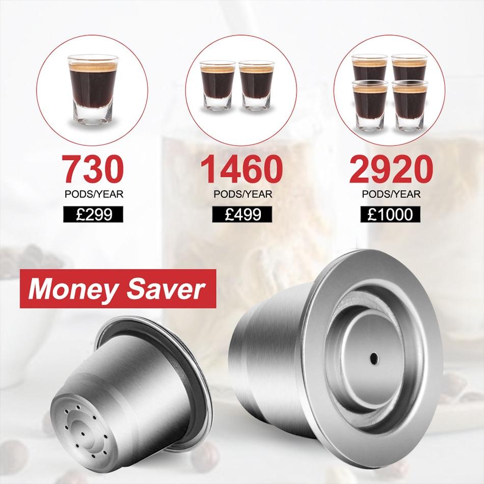 ICafilas SVIP الفولاذ المقاوم للصدأ القهوة كبسولة ل نسبرسو إعادة استخدامها إينوكس إعادة الملء كريما Espress قابلة لإعادة الاستخدام تصفية القرون|Coffee Filters| - AliExpress