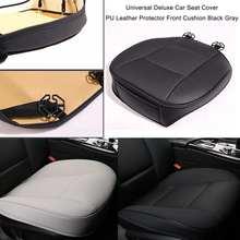 Funda de asiento delantero de coche Pad asiento de cuero PU Mat Chair Cushion Car interior cubierta protectora de asiento de coche funda suave