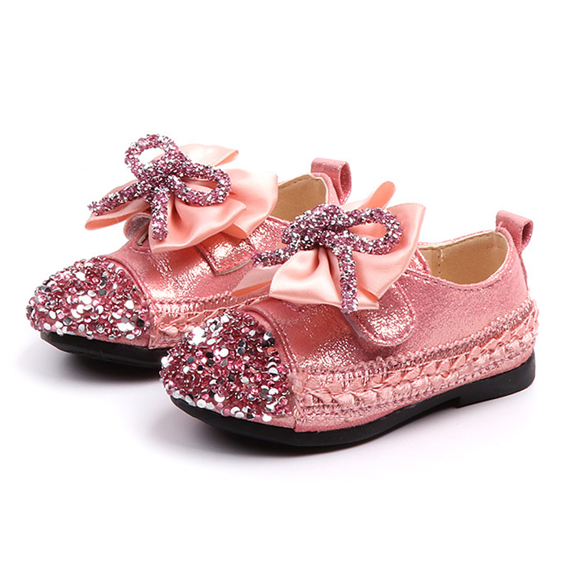 New 2020 Toddler Girls Shoes Bowknot Princess Shoes For Childrens PU Leather Spring Autumn Party Dress Shoe Kid's Flats For Girl