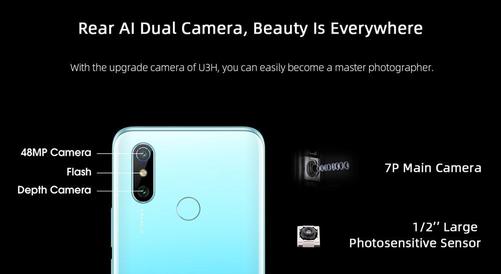 ELEPHONE U3H Helio P70 Octa Core Smartphone Better Than Xiaomi Mi 10 Redmi Note 7 Note 8 6.53 FHD+ 128GB  256GB 24MP Selfie 48MP Dual Camera NFC Android 10 Mobile Phone (15)