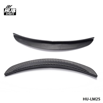 2pcs 10Universal Wheels Lip Fender Flares Auto Car Protector Cover Decorative Strip For Truck Car HU-LM25 image