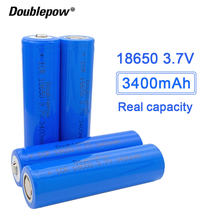NEW original Doublepow 18650 battery 3.7V 3400mah 18650 lithium rechargeable battery for flashlight etc