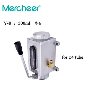 500ml smarowanie ręczna pompa olejowa ręczne smarowanie 500CC CNC 4mm podwójne gniazdko Port ręczna pompa smarująca tanie i dobre opinie Mercheer CN (pochodzenie)