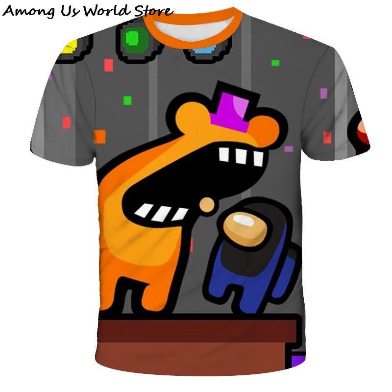 Новая Забавная детская футболка из мультфильма «Игра среди нас» для мальчиков и девочек, Милая футболка из мультфильма «один из детей», лет...