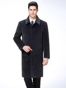 KUYOMENS Wool Coats Autumn Men's Winter Luxurious New Solid Blends