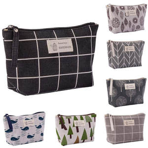 Cotton And Linen Large-Capacity Cosmetic Bag Multi-function Travel Bag Home Supplies Makeup Pouch Organizer Storage Bag