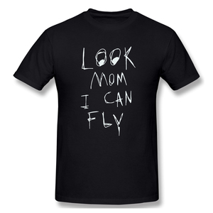 T-Shirt for Men Look Mom I Can Fly 100% Cotton Tees Crewneck travis scott Short Sleeve T Shirt 6XL Funny Plus Size Clothes