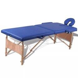 VidaXL Складная Кровать для красоты 186X68 см (Д X Ш), профессиональные портативные массажные столы для спа, складная с сумкой, мебель для салона, де...