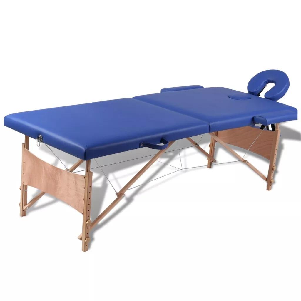 VidaXL Folding Beauty Bed 186 X 68 Cm (L X W) Professional Portable Spa Massage Tables Foldable With Bag Salon Furniture Wooden