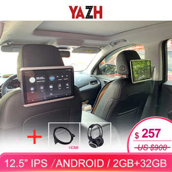 YAZH 12.5 inch 1920*1080 touch screen 2GB 16GB Car android 6.0 headrest monitor 1 pcs with bluetooth RCA out/in HDMI output - DISCOUNT ITEM  40% OFF All Category