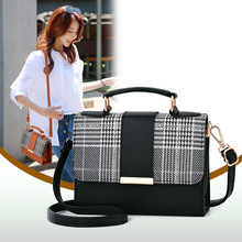 Hot Clutches women fashion 2019 New girl mini flap bags korean plaid bag small crossbody for leather handbag