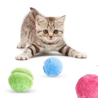 Bola de rodillo mágica para mascotas, juguetes molares de felpa para masticar, suministros interactivos de entrenamiento eléctrico para perros y gatos