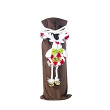 Cute 3D Doll Treat Bags Wine Bottle Covers Christmas Holiday