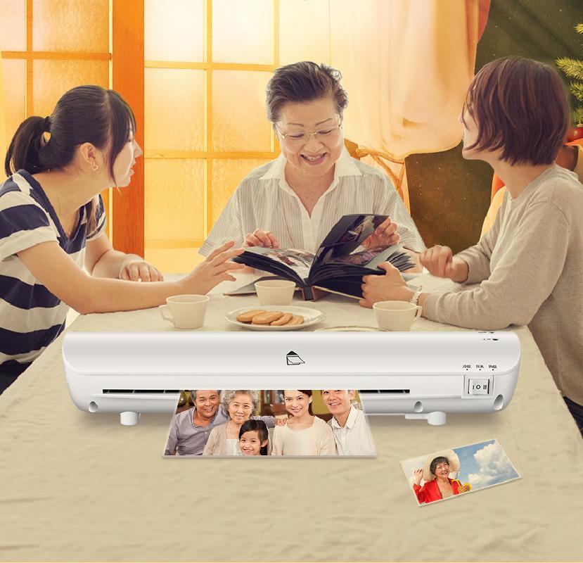 Foto sobre a Máquina de Plástico Arquivo sobre Cola Máquina de Selagem Qianfan Bonsai Mini a4 Imprensa Filme Laminação & L408