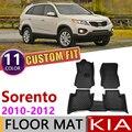 Кожаные автомобильные коврики на заказ для Kia Sorento XM 2010 2011 2012 5 или 7 мест  автомобильные водонепроницаемые коврики  коврик для ног  аксессуары...