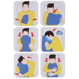 Image 2 - Almohada de viaje almohadas inflables Cojín de aire suave viaje productos innovadores portátiles soporte para la espalda almohada plegable cuello soplado