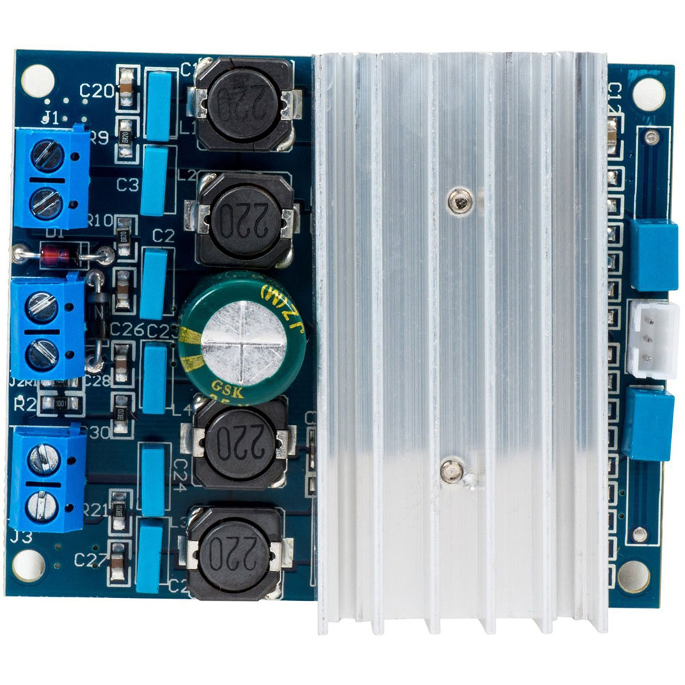 TDA7492 Home Digital D Class High Power Audio Stable Mini Radiator Replacement 2 X 50W DIY Module Amplifier Board
