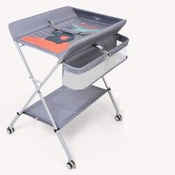 Table à langer bureau de soin de bébé nouveau-né bébé changement Table à langer Massage Table de soin de bébé pliable
