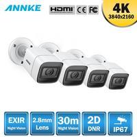 ANNKE 4pcs 4K HD IP67 Weatherproof Cameras Kit Indoor Outdoor Analog CCT Security Camera