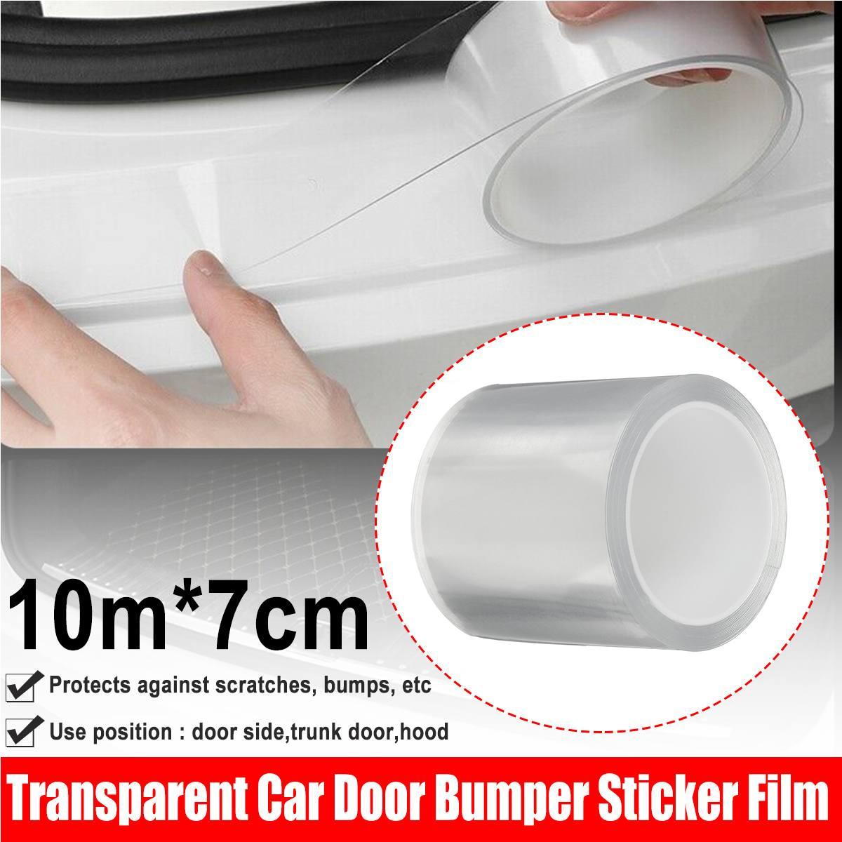 Универсальная 7*100 см уплотненная прозрачная защитная пленка на бампер для двери автомобиля 3D наклейка пленка
