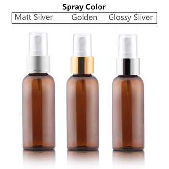 30ml 50ml 100ml 120ml clear white black Refillable Plastic Perfume Make Up Transparent Small Empty Spray Bottle with silver lid