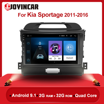 Android 9.1 Autoradio Head Unit For 2010 2011 2012 2013 2014 2015 KIA Sportage Radio Audio 9 inch Car GPS Multimedia Player 2DIN image