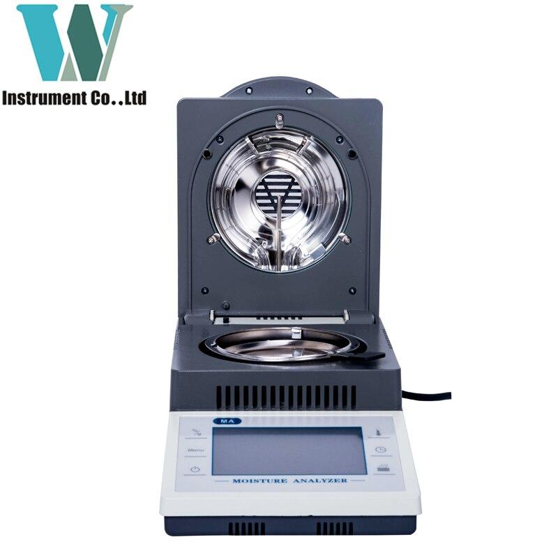 Free Shipping 50g 5mg Halogen 180 Centigrade Rapid Heating Touch Screen Moisture Analyzer