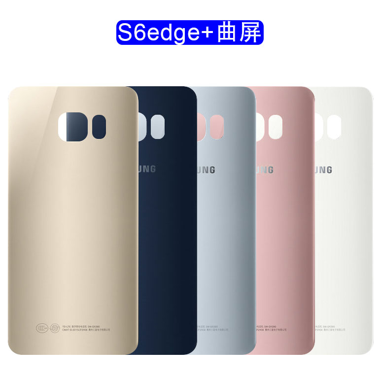 For Samsung Galaxy S6 Edge PLUS SM-G928F Back Rear Glass Replacement Battery Cover Housing With Adhesive image