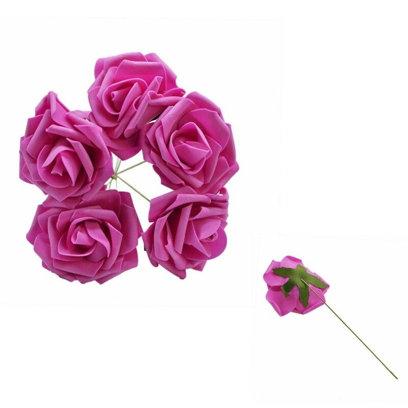 10 шт. 8 см большие ПЭ пенные цветы искусственные розы цветы Свадебные букеты Свадебные украшения для вечеринки DIY Скрапбукинг Ремесло поддельные цветы - Цвет: Rose red