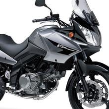 Motorcycle Anti slip Tank Pad Sticker Pad Side Gas Knee Grip Protector For SUZUKI V Strom650 DL650 V Strom 650 DL 650 2006 2012