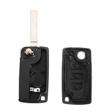 1pcs 3 Button Foldable Flip Remote Car Key Fob Case Car Styling Shell For Peugeot 207 307 407 SW 308 607 недорого