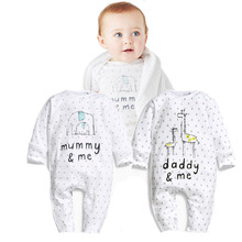 Baby Rompers One-piece Tights Newborn Printed Long-sleeved Clothes Autumn and Winter Boy Girl
