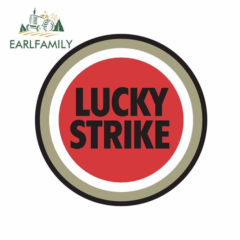 EARLFAMILY 13cm X 13cm For Lucky Strike Car Stickers And Decals Fashion Waterproof Decoration Suitable For All Types Of Vehicles