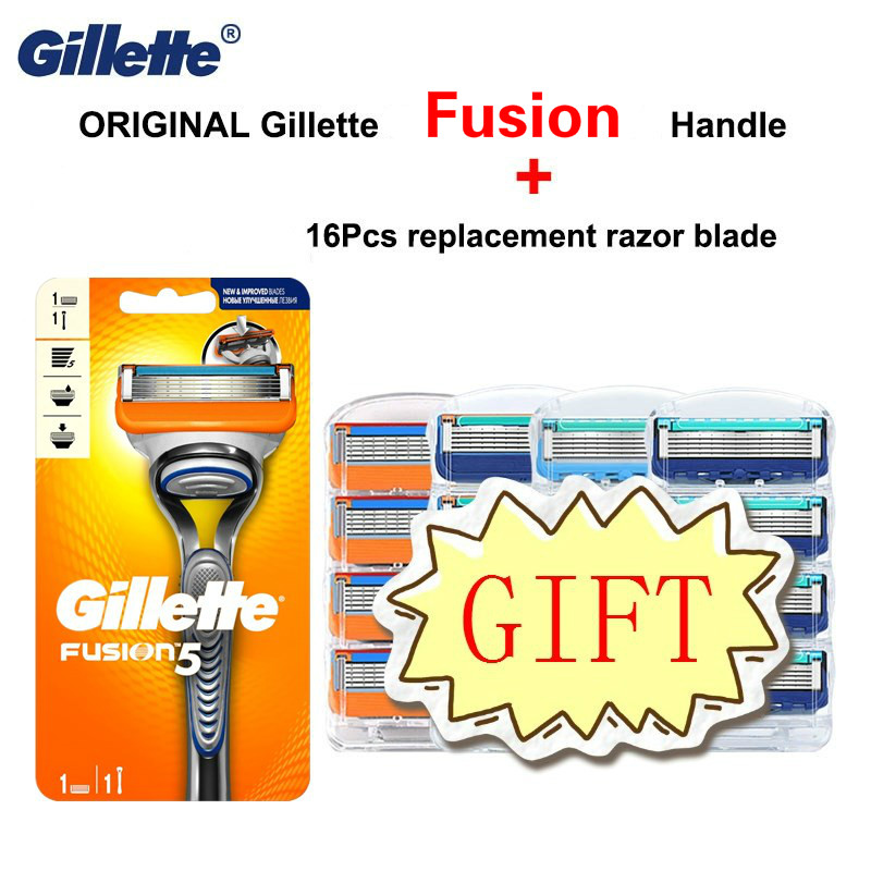 Original Gillette Fusion 5 Layer Men Shaving Handle Shaving Stand Razor Blade For Safety Razors Manual With Replacement