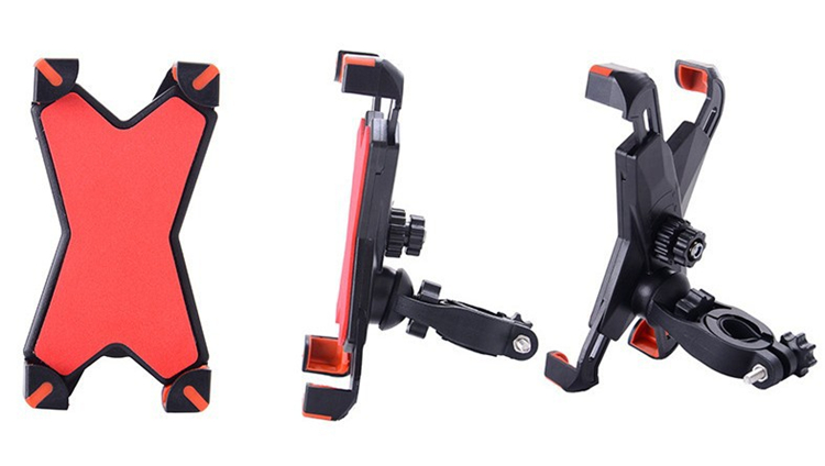 Universal Bicycle/Motorcycle Phone Holder With Secure Grip For Car Bike 6
