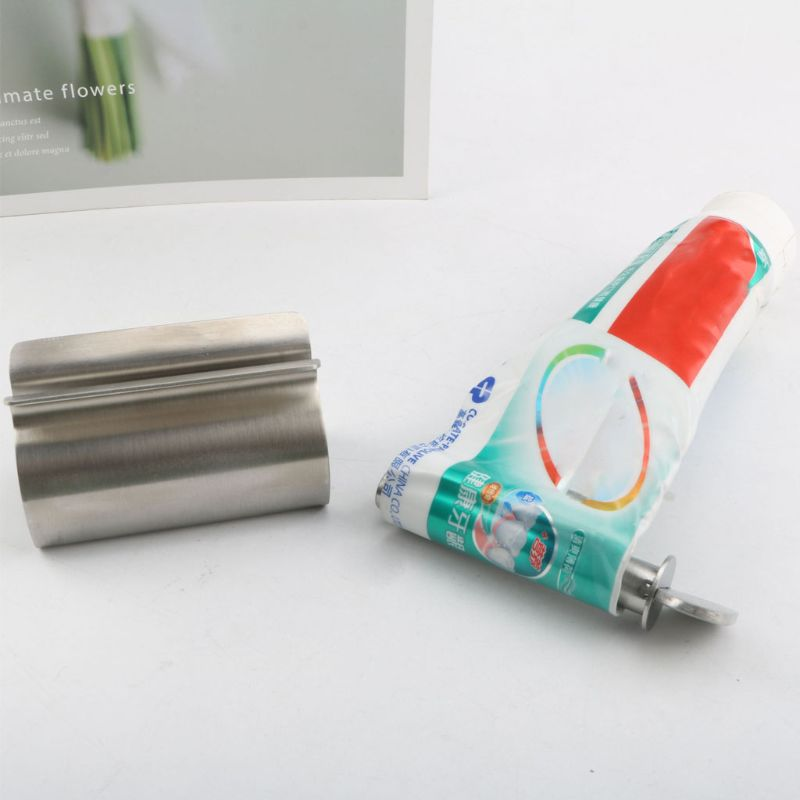 Stainless Steel Rolling Tube Toothpaste Squeezer Dispenser Wringer Easy Squeeze E65B