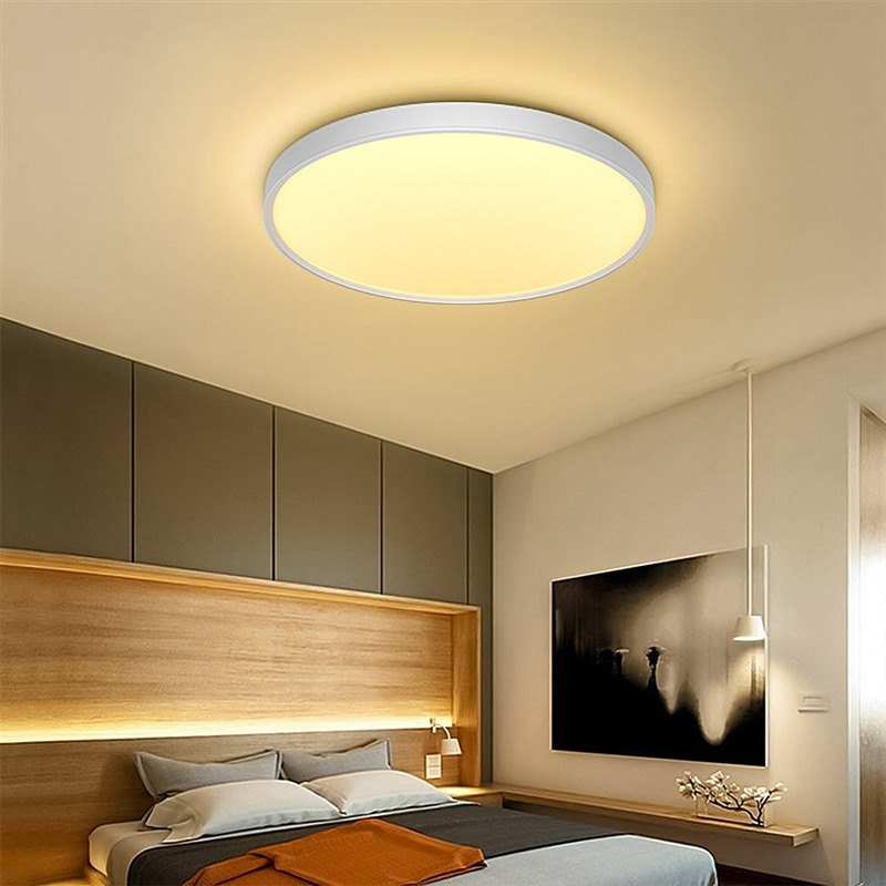 Ultra-thin Warm White Panel Lights Mount Lamp Living Room Kitchen Bedroom Ceiling Lights Lamps Round Style High Quality Light